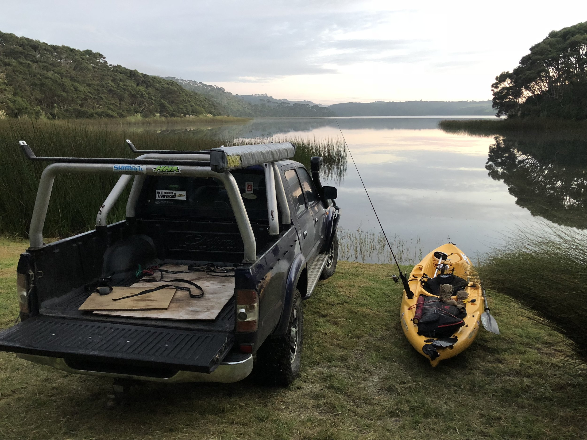 A mornings Kayaking with a spot of fishing thrown in ?