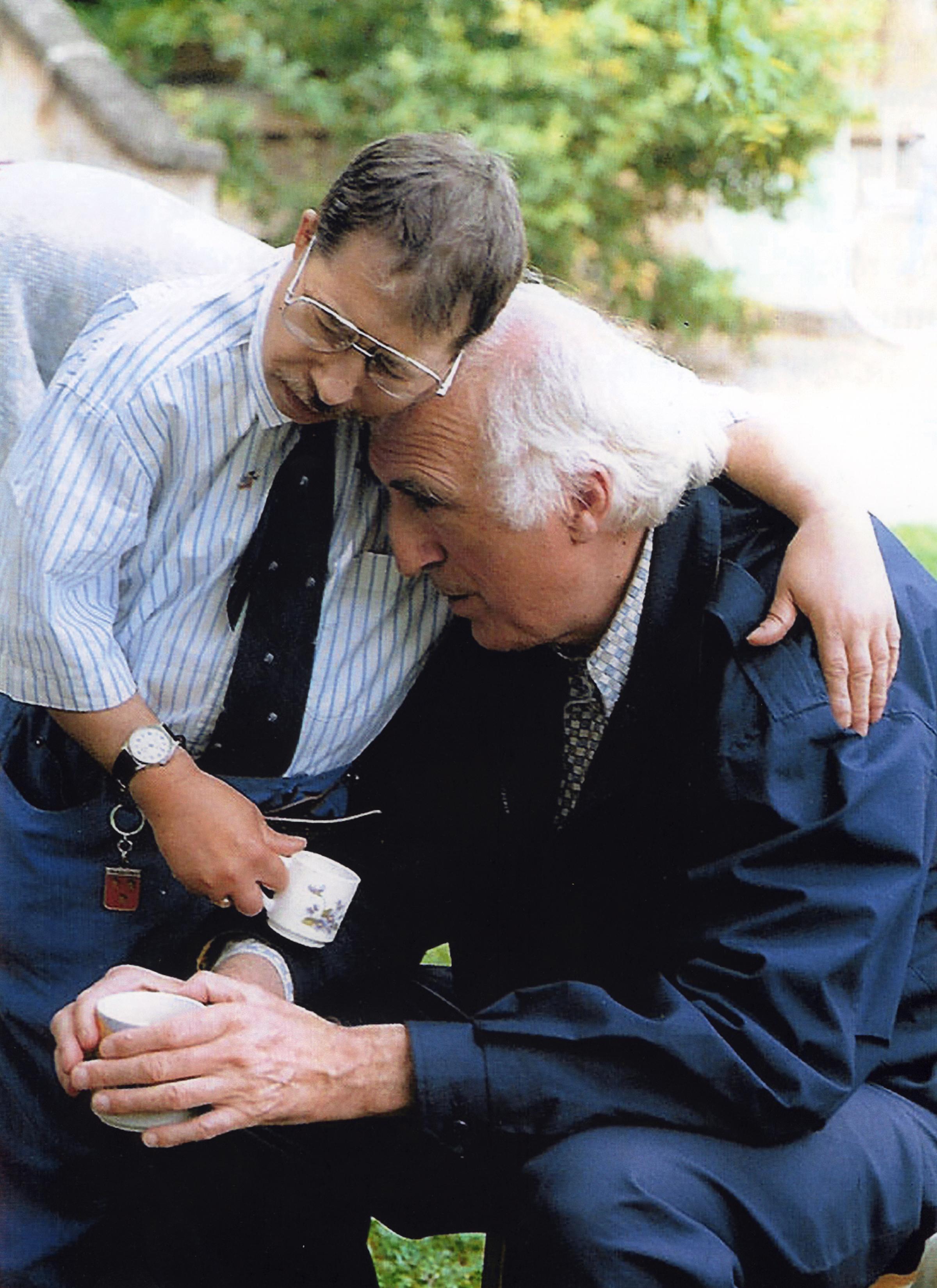 Jean Vanier, Marc Faivre D'Arcier © DR L'Arch International