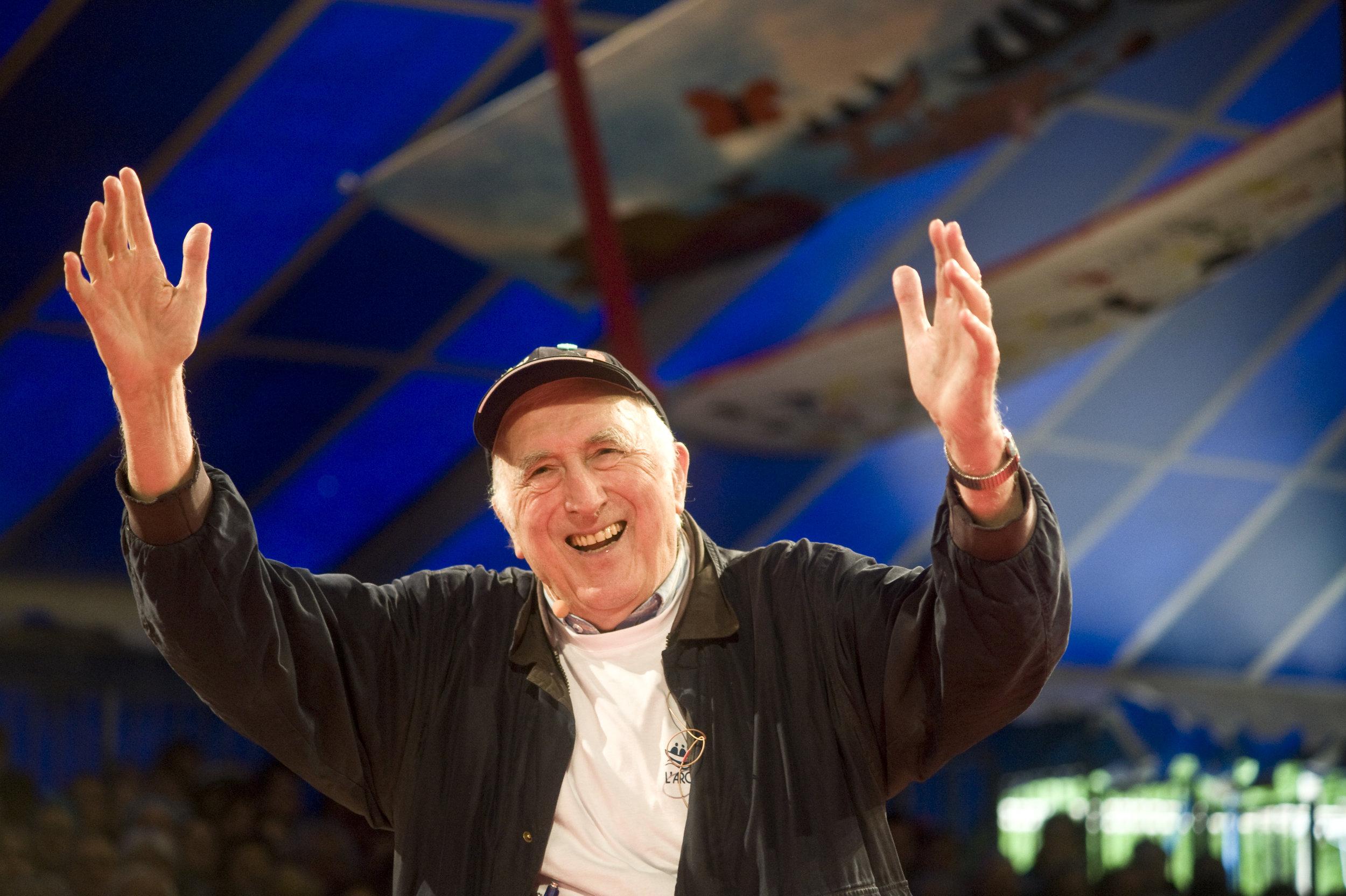 Jean Vanier at L'arche 50th Anniversary Celebrations, Paray-le-Monial, France © Kayte Brimacombe