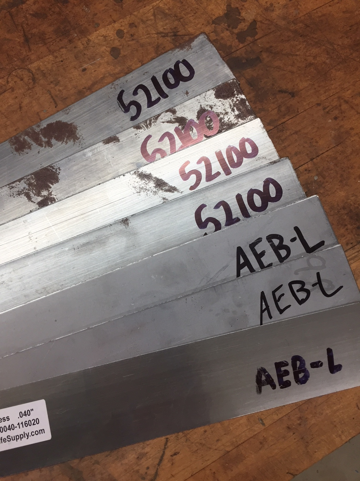 Steel prior to becoming a knife.