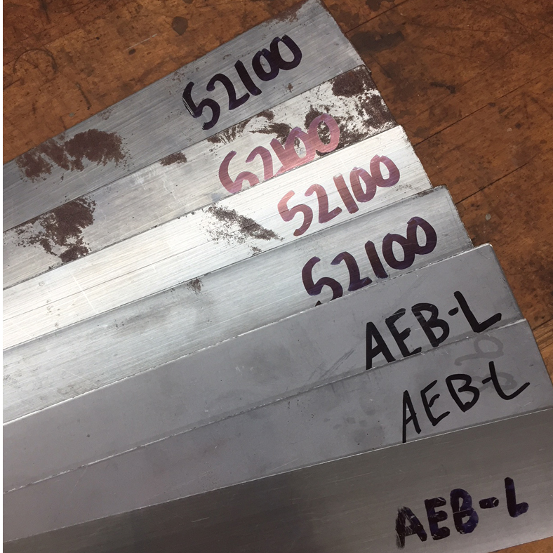 Steel bar stock of the appropriate thickness, annealed at this stage, is selected.
