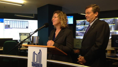 Speaking to the media during the announcement of the six-point traffic plan.