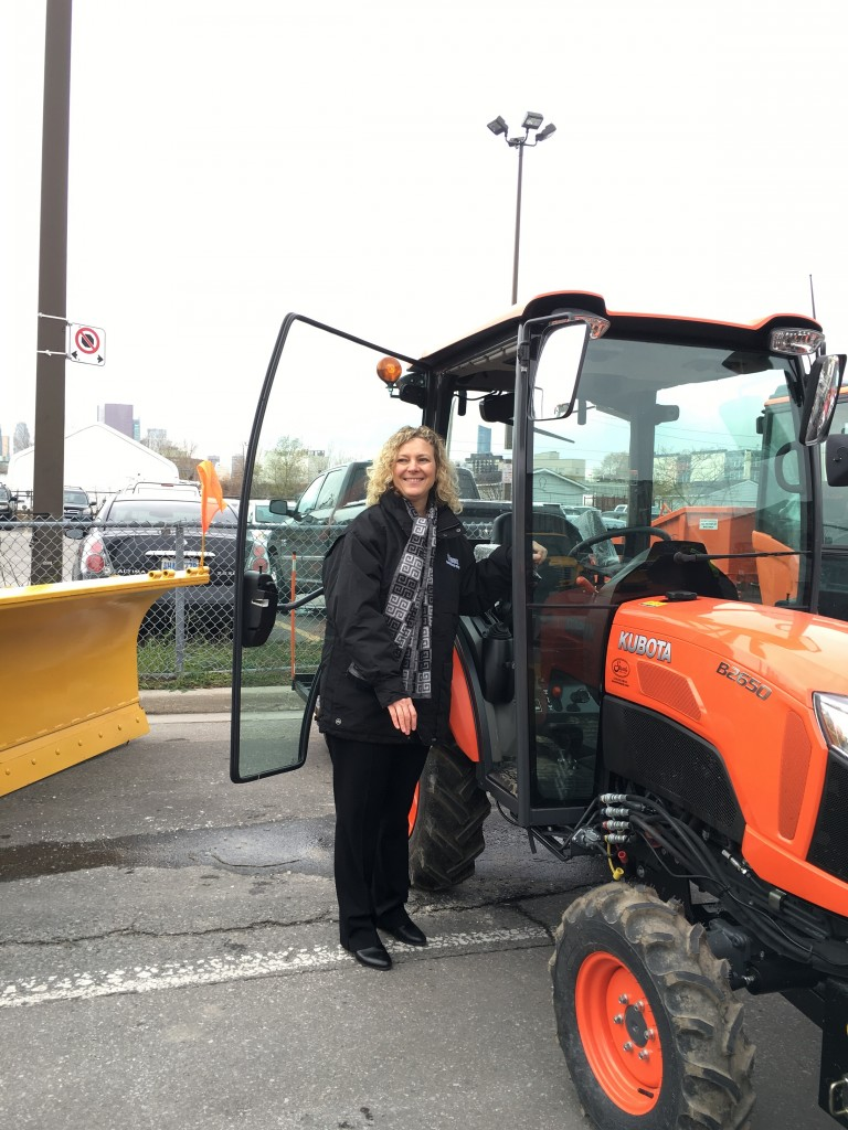 As Chair of Public Works, I was pleased to show off the city's arsenal of winter equipment!