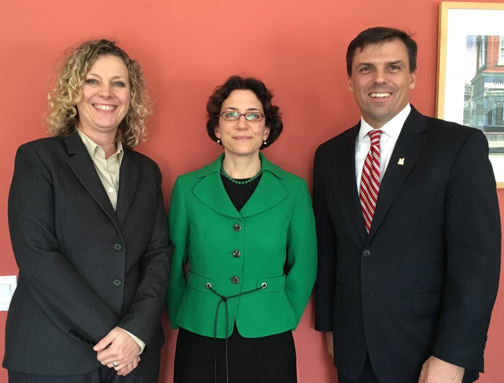 Jaye with Polly Trottenberg, Commissioner of NYC's Department of Transportation, and Stephen Buckley, General Manager of Transportation Services.