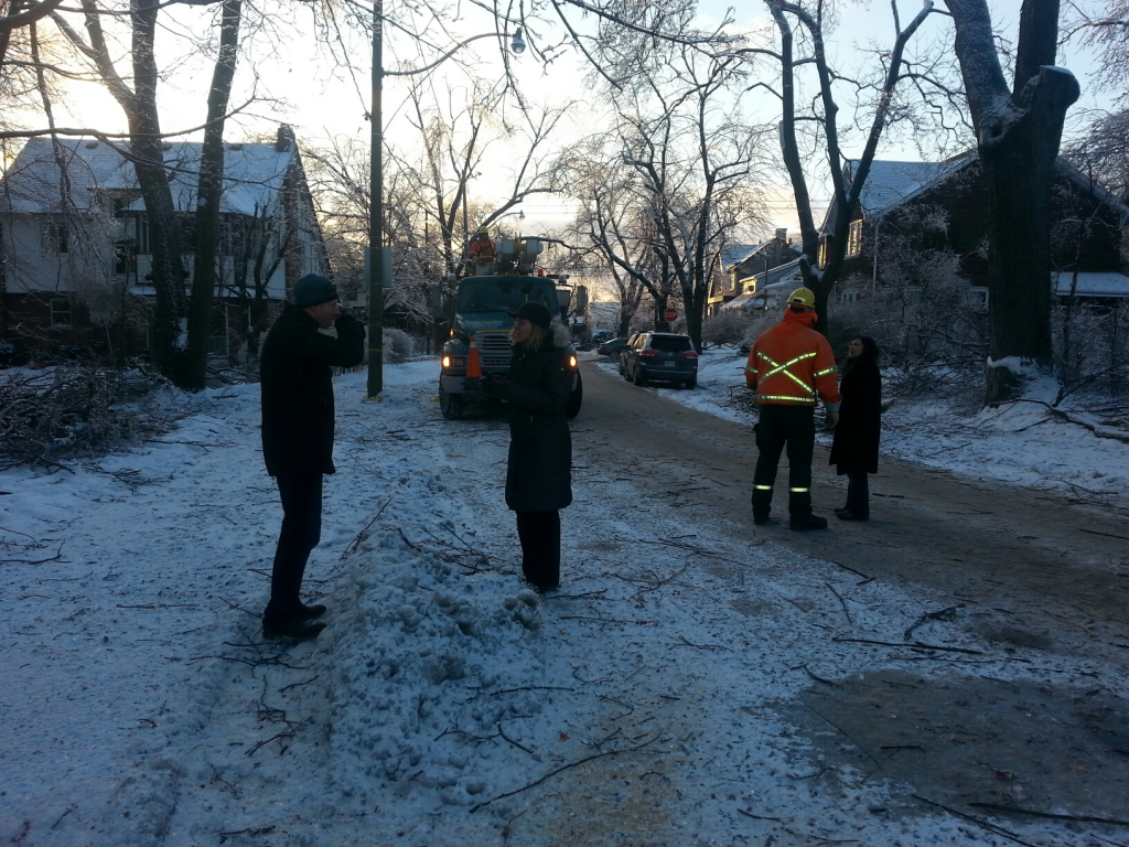 Speaking to a Ward 25 resident who had to move his young family on Christmas Eve due to a power outage.