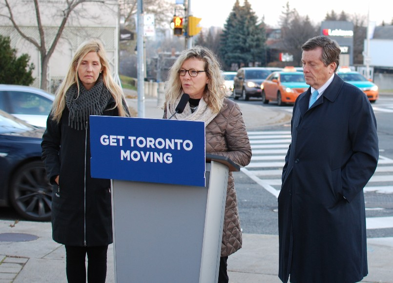As Chair of Transportation, I was happy to launch Toronto's first smart traffic signals in Ward 25 on Yonge Street.