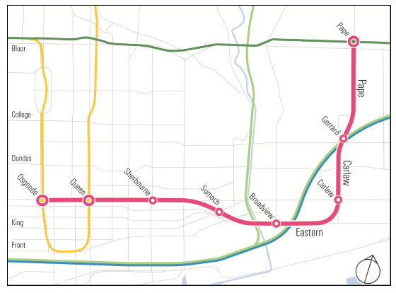 City Council has approved the alignment and station locations for the Relief Line South.