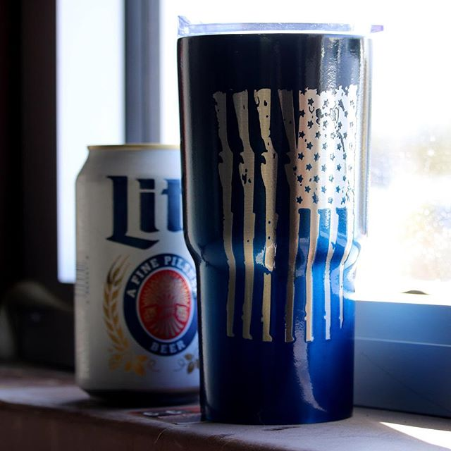 The day is almost over…. The week is almost over…. Just a little bit longer to have a cold one…. Speaking of!  Don't let your cold one turn into a lukewarm one.  This powder-coated Yeti with old faithful in all its glory on the side will keep your beer cold and your spirits up all day.  #beer #happyhour #powdercoat #powdercoatedyeti #oldglory #coldone #nofilter