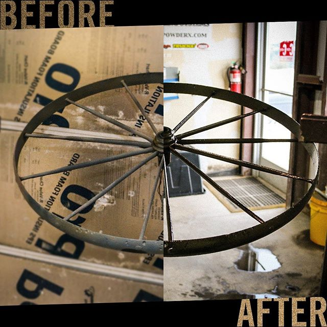 It's been the summer of restoration at CCI. Bring us your old, your rusty, your corroded metal yearning to look good, the retched refuse that made you the envy of your 'hood.  Send these timeless treasures to us and we will restore them to their former glory!  #restoration #beforeandafter #powdercoating