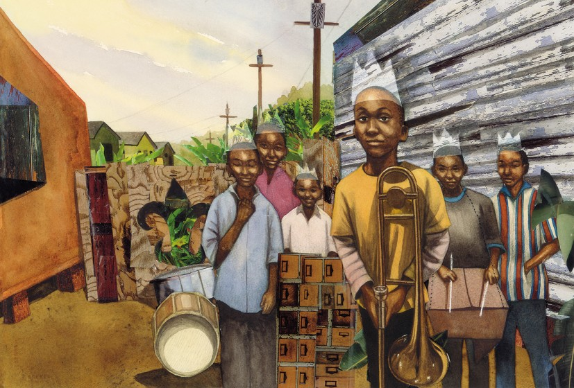 Illustration by  Bryan Collier  from the book Trombone Shorty