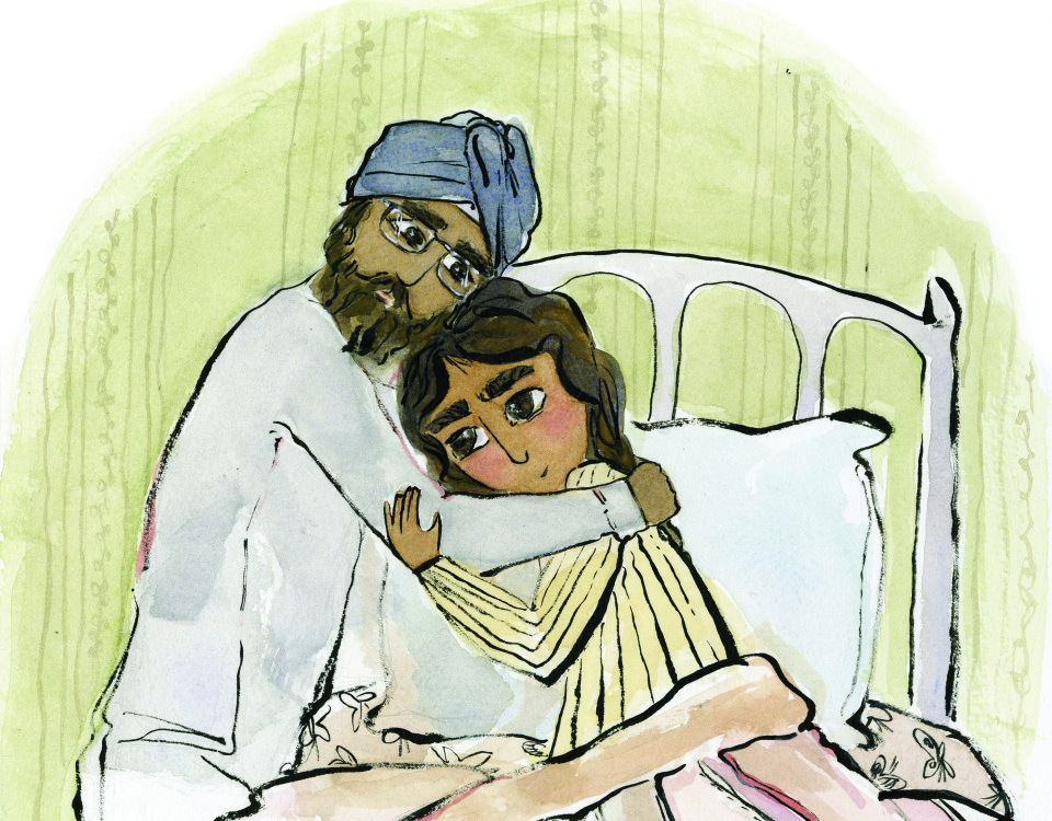 Illustration by Gurleen Rai from  Dreams of Hope  by Navjot Kaur