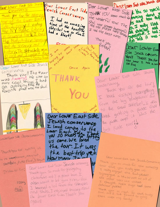 "Thanks from children who have participated in the ""A Day in the Life of an Immigrant Child"" program."