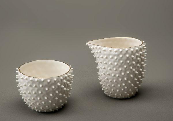 Nucleolus Spiky Milk jug & Small bowl