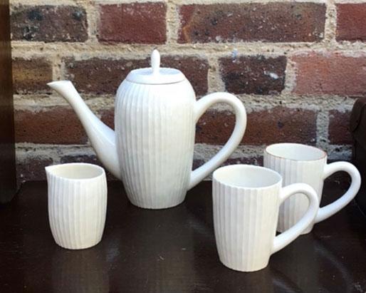 Stripe teapot