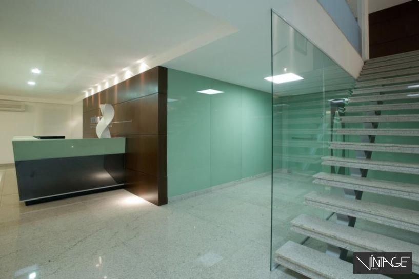Divisória da escada em vidro laminado
