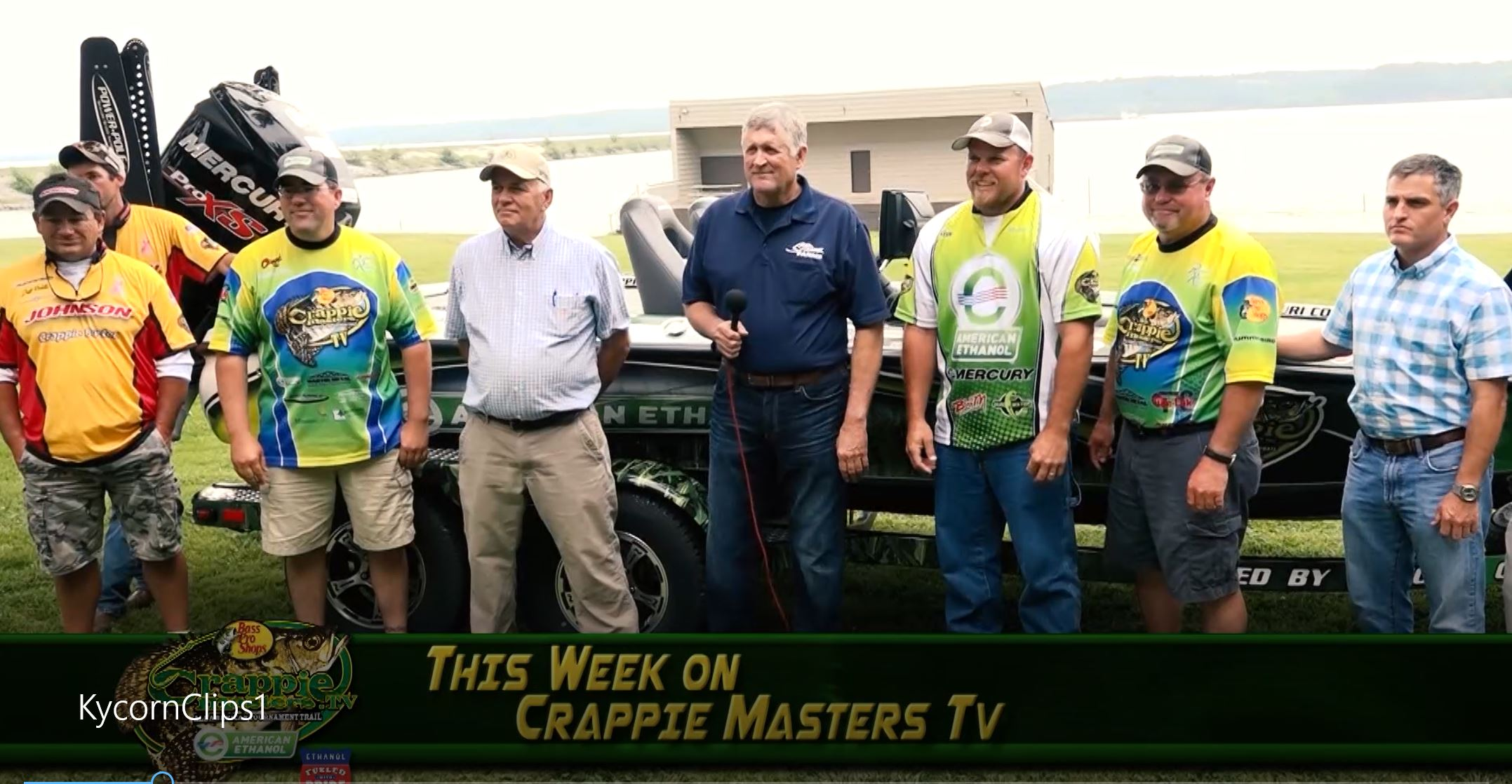 KyCorn leaders participated in a Crappie Masters media event.
