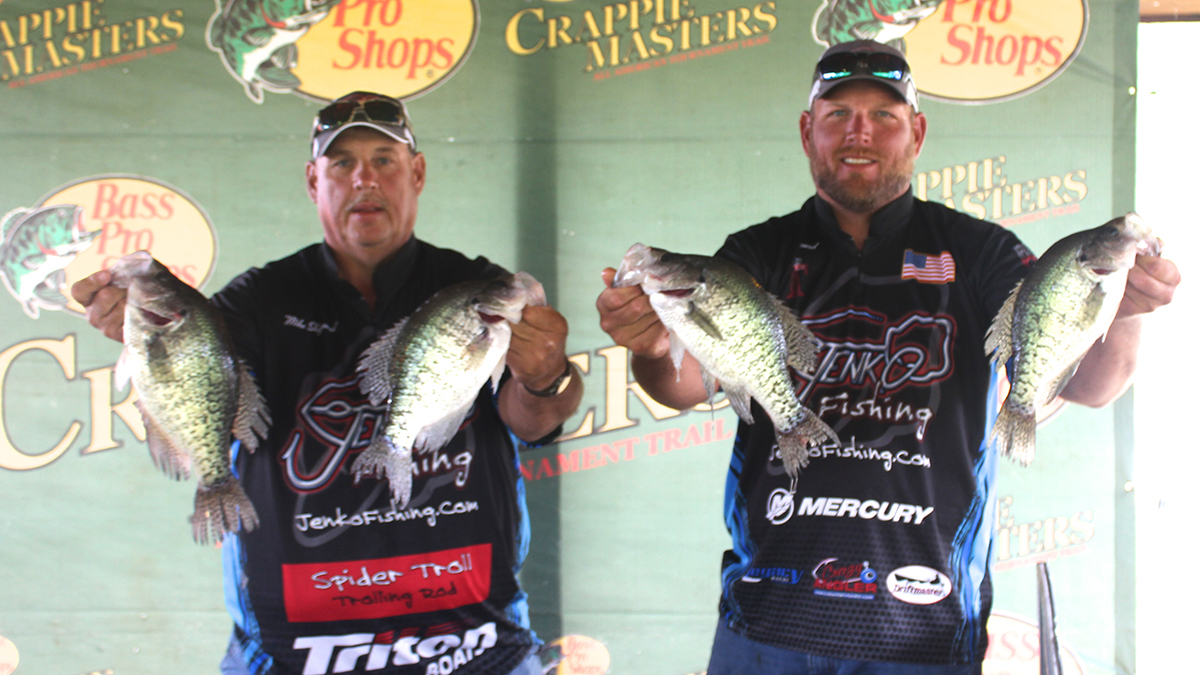 The runner up position was claimed by the Jenko Fishing team of Tony and Mike Sheppard, who like Grant and Matheny,made a critical and bold decision to leave Kentucky Lake for Barkley Lake on Championship Saturday based solely on predicted high winds and familiarity with the lake. Although their day two weight was lower than day one, the 21.17 pounds they did weigh was enough to keep them comfortably in second place and claim the $2700.00 prize that went with it.