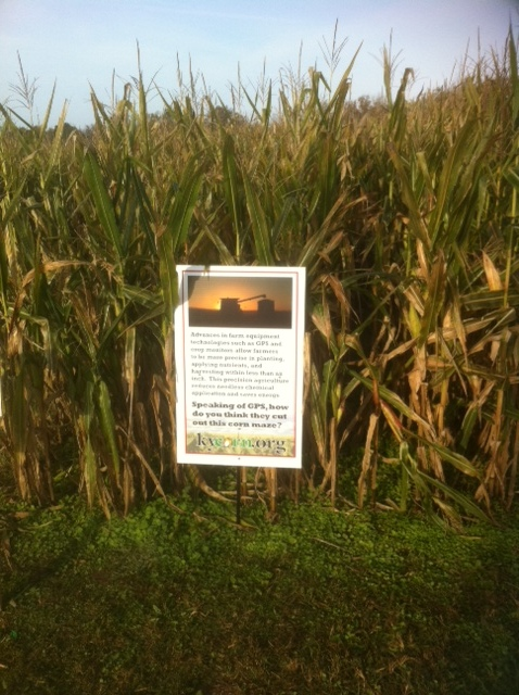 One of KyCorn's corn fact signs.