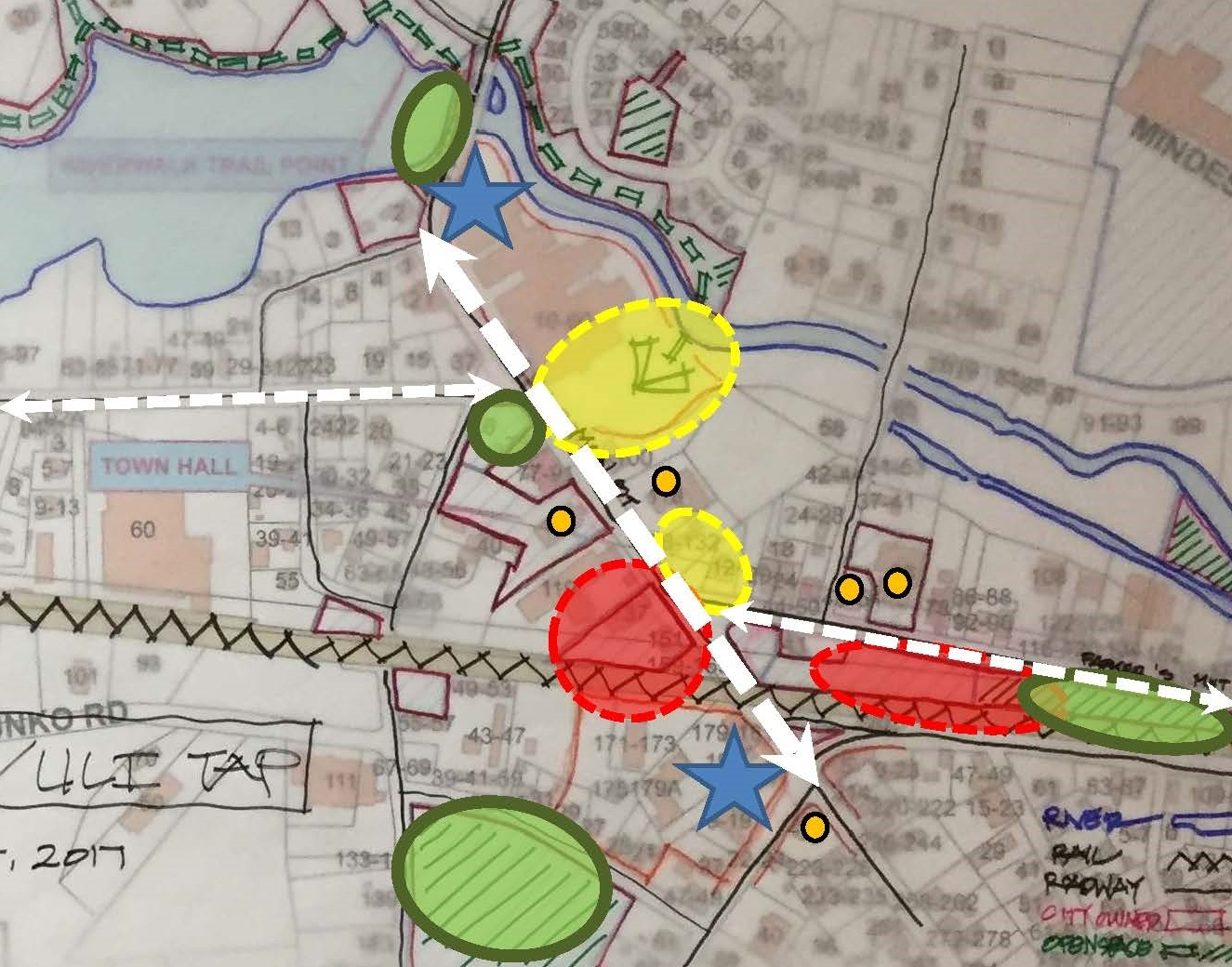 Sketch Diagram of Key Opportunities from TAP Charrette