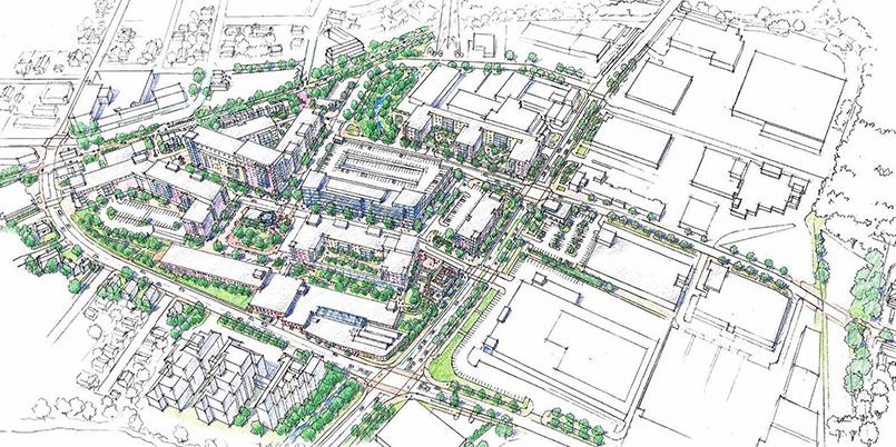 Northland Development's proposal for Needham Street and Oak Street