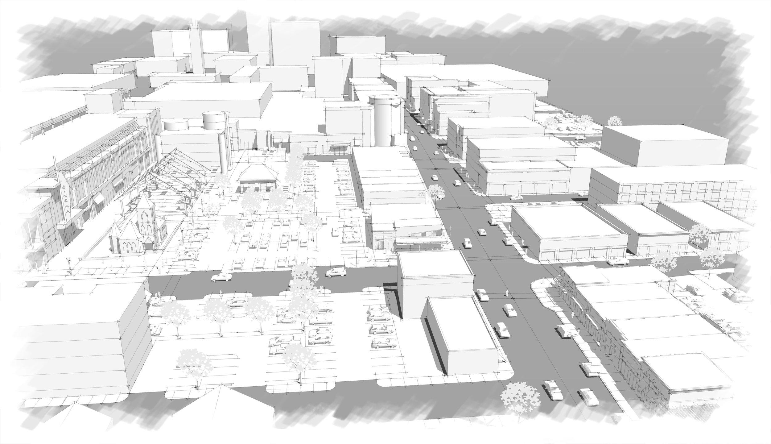 Bird's eye view of Main Street, Springfield