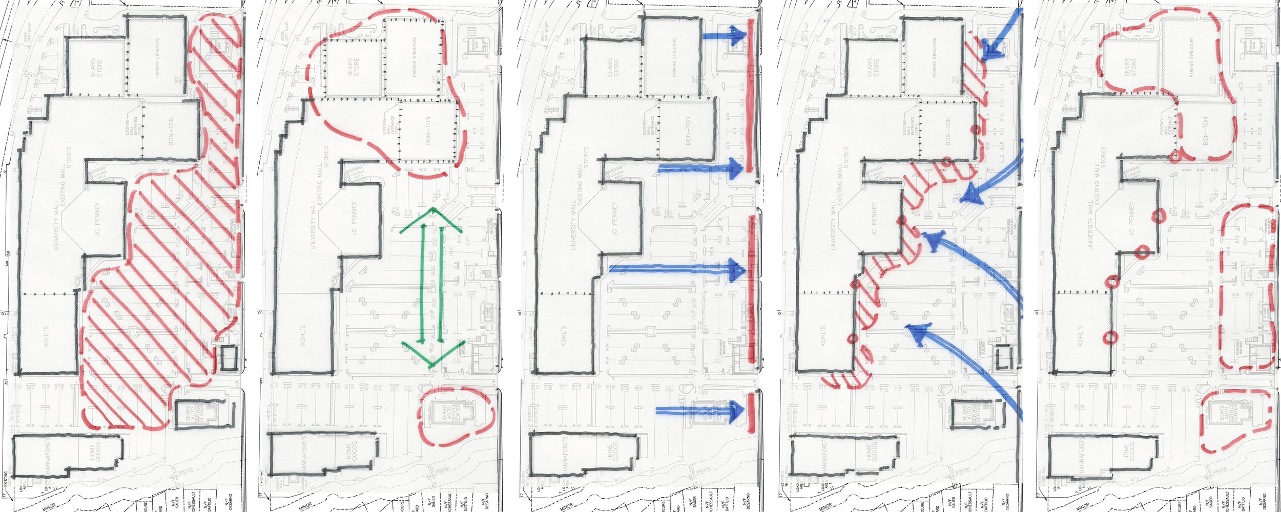 University Mall - Initial Site Response Diagrams