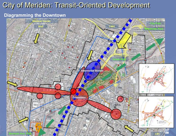 Meriden TOD Master Plan Initial Site Diagram