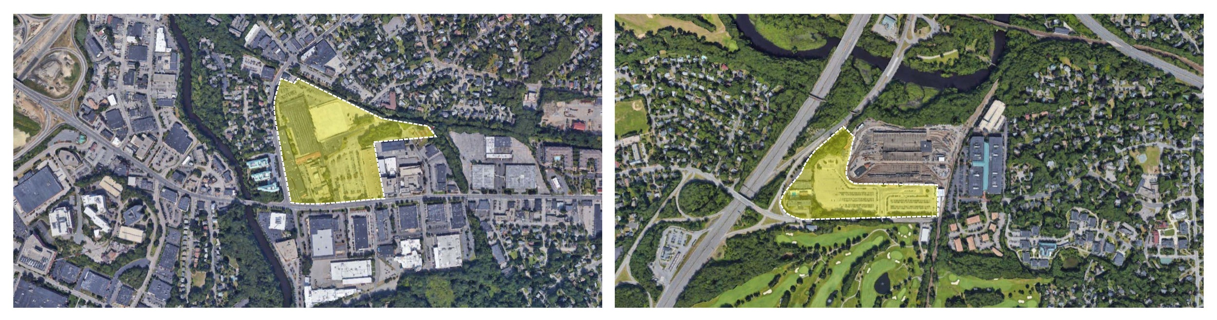 Northland Site along the Needham Street Corridor + Riverside Station Site adjacent to Route 128
