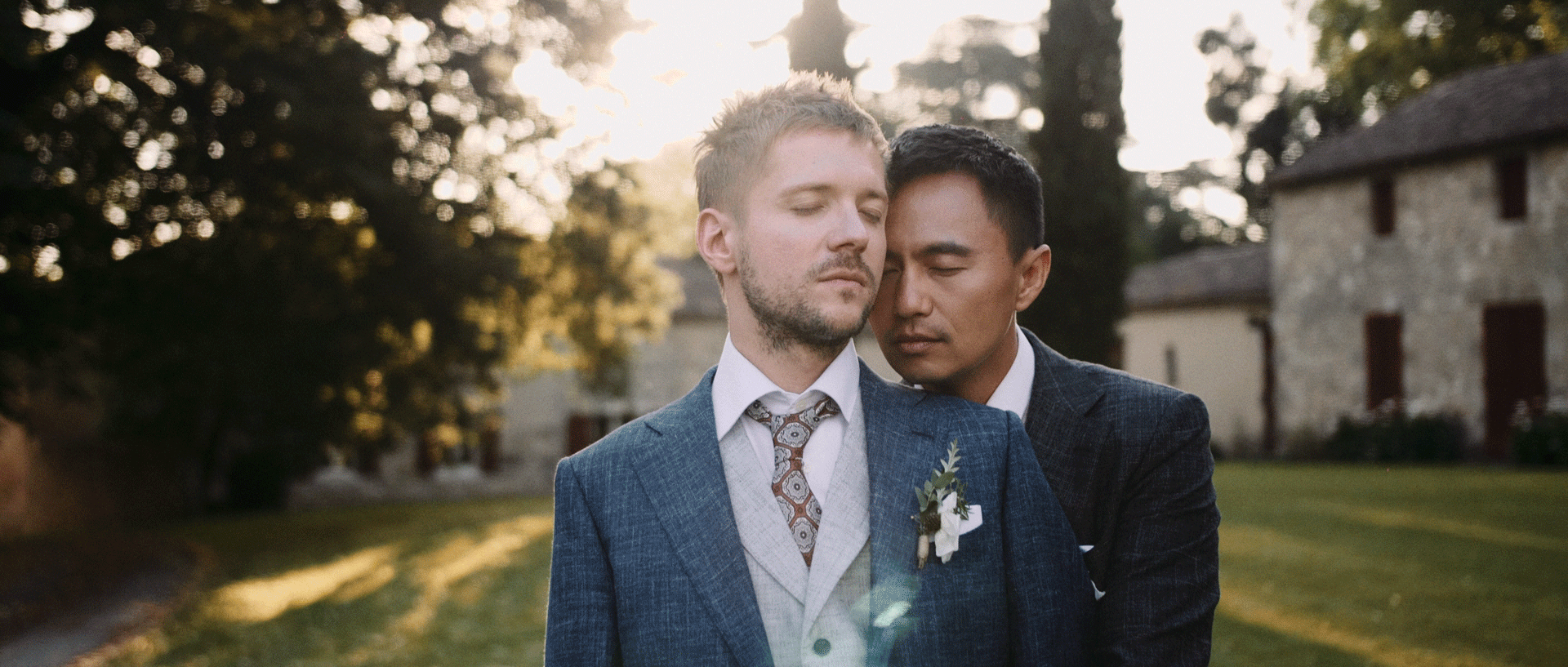 Sam & David - An elegant & intense international gay weddingChâteau de Poudenas - South West of France