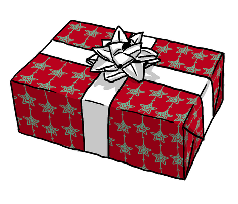 Gift Wrap  $13.50 per roll  (more options available)