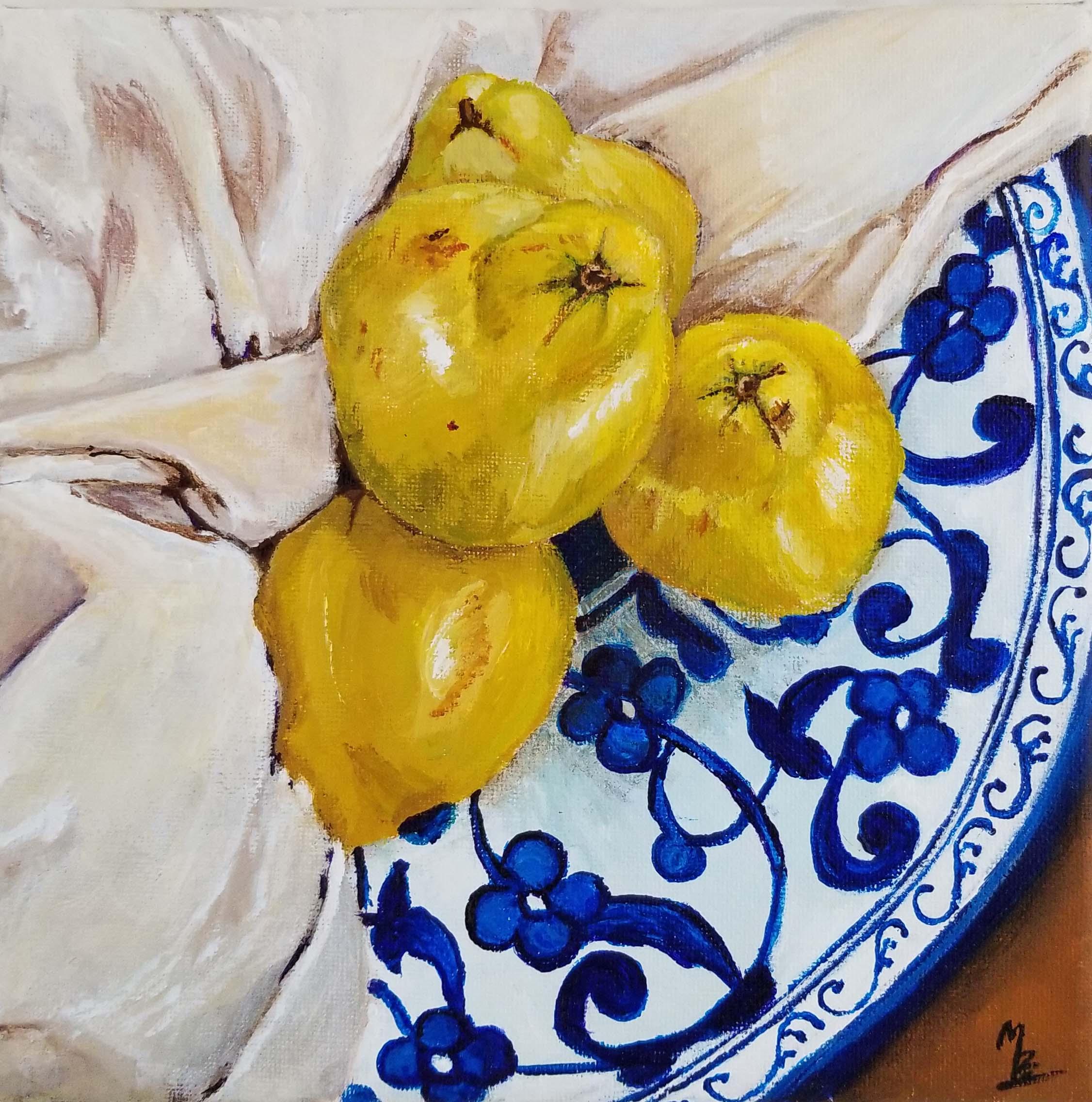 Pears in Blue