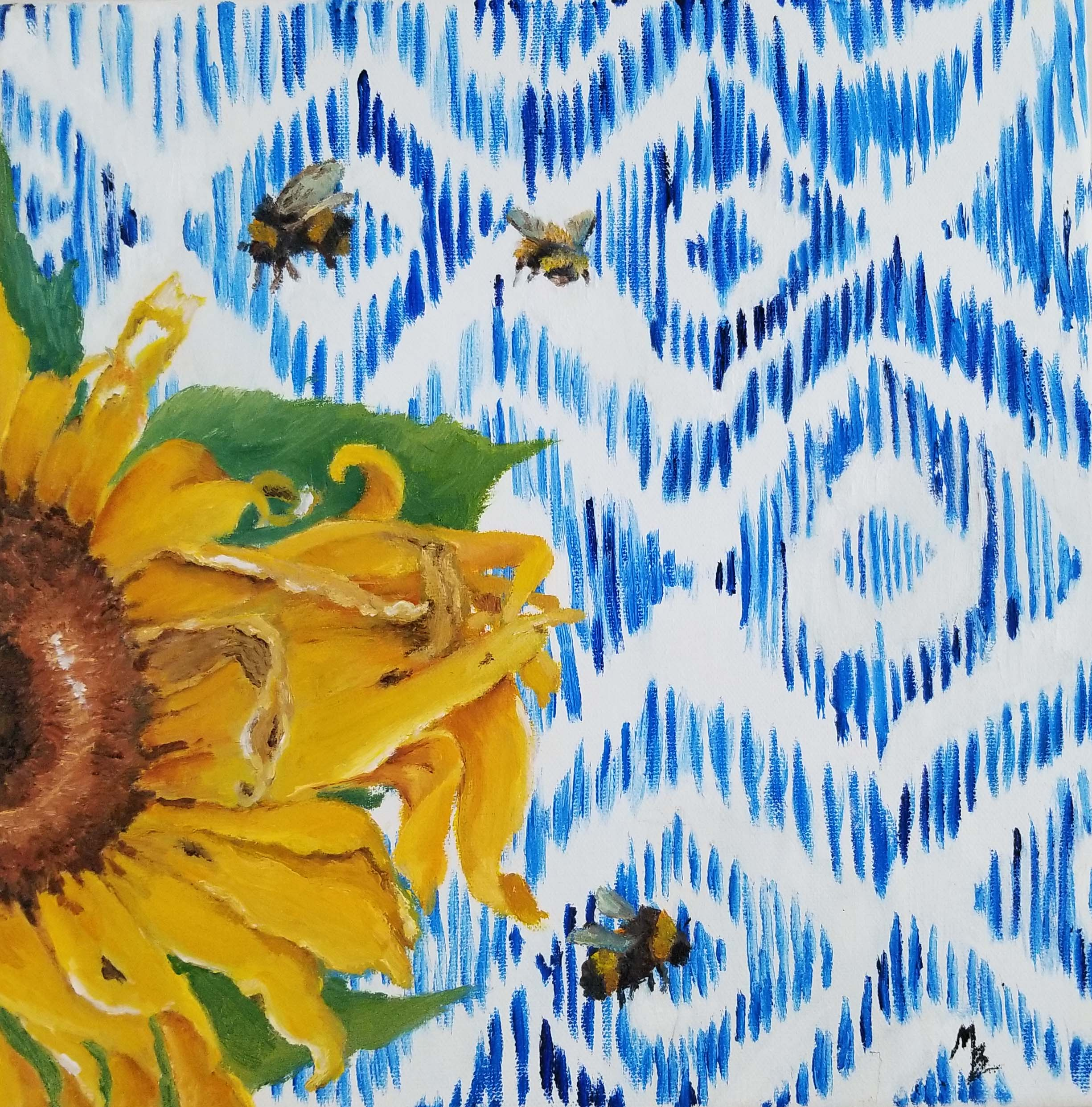 Sunflower Ikat