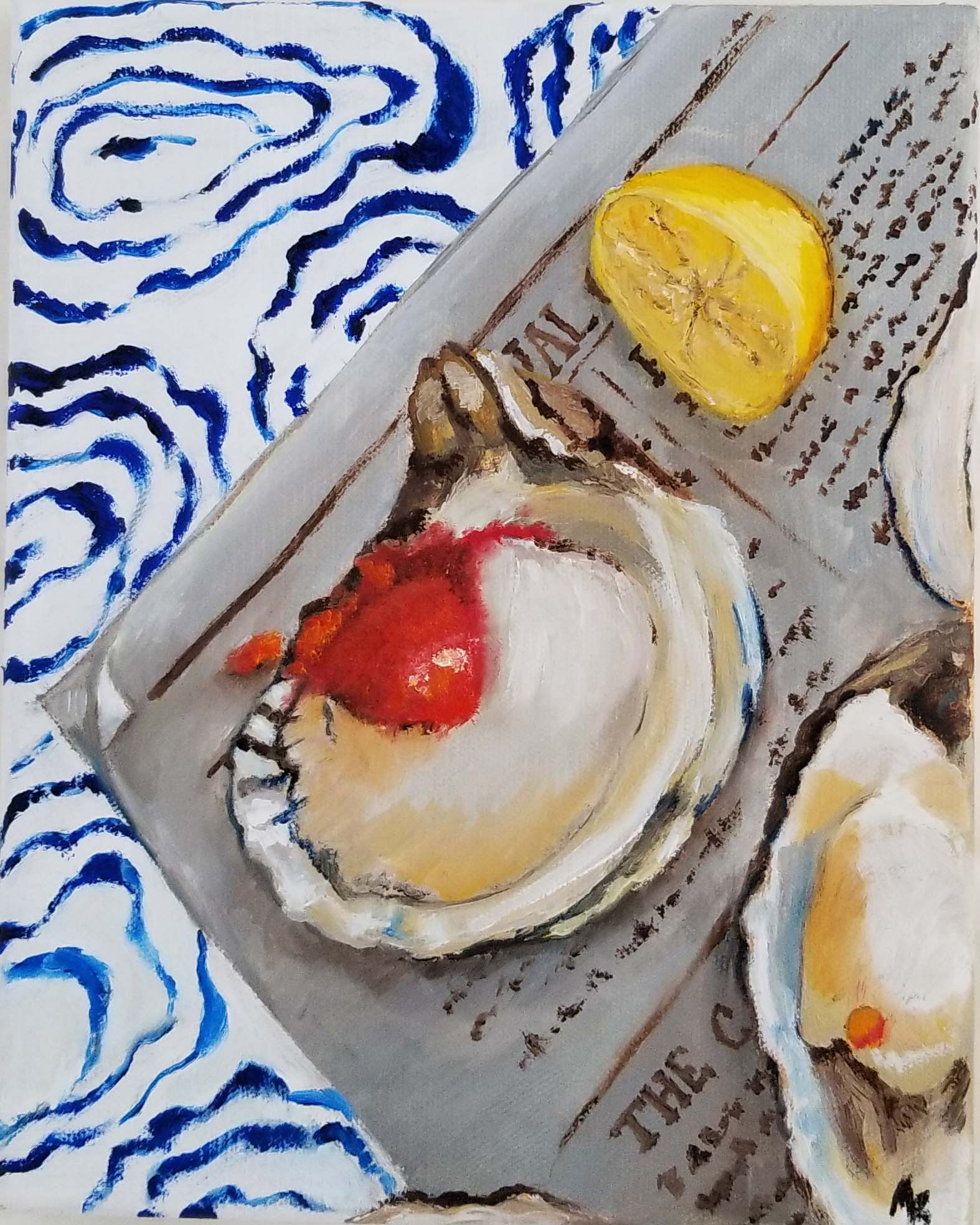Oysters on Oyster Paisley