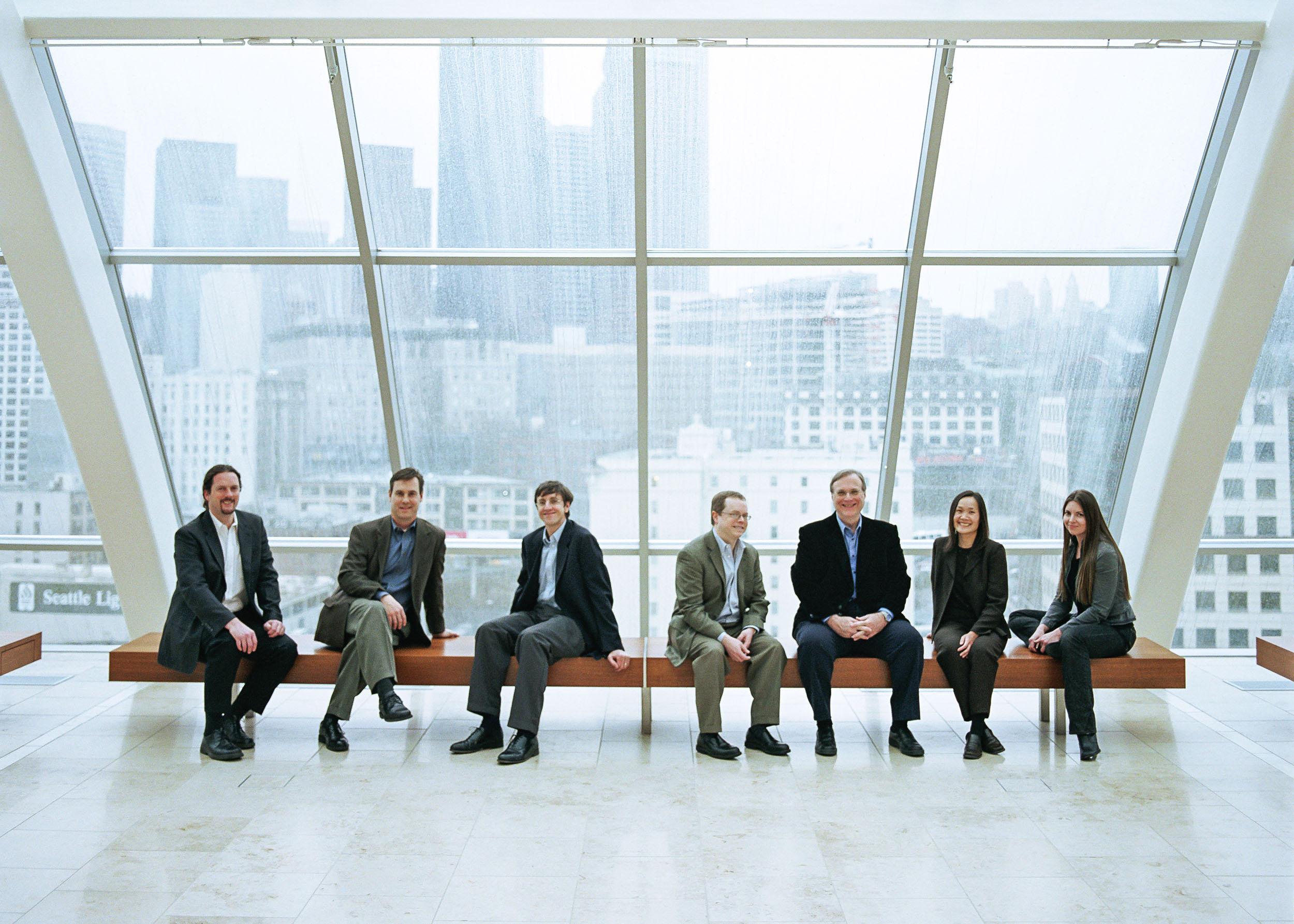 From left: Ed Lein, Paul Wohnoutka, Michael Hawrylycz, Allan Jones, Paul Allen, Chinh Dang, Carey Teemer, Photography by Bryce Duffy