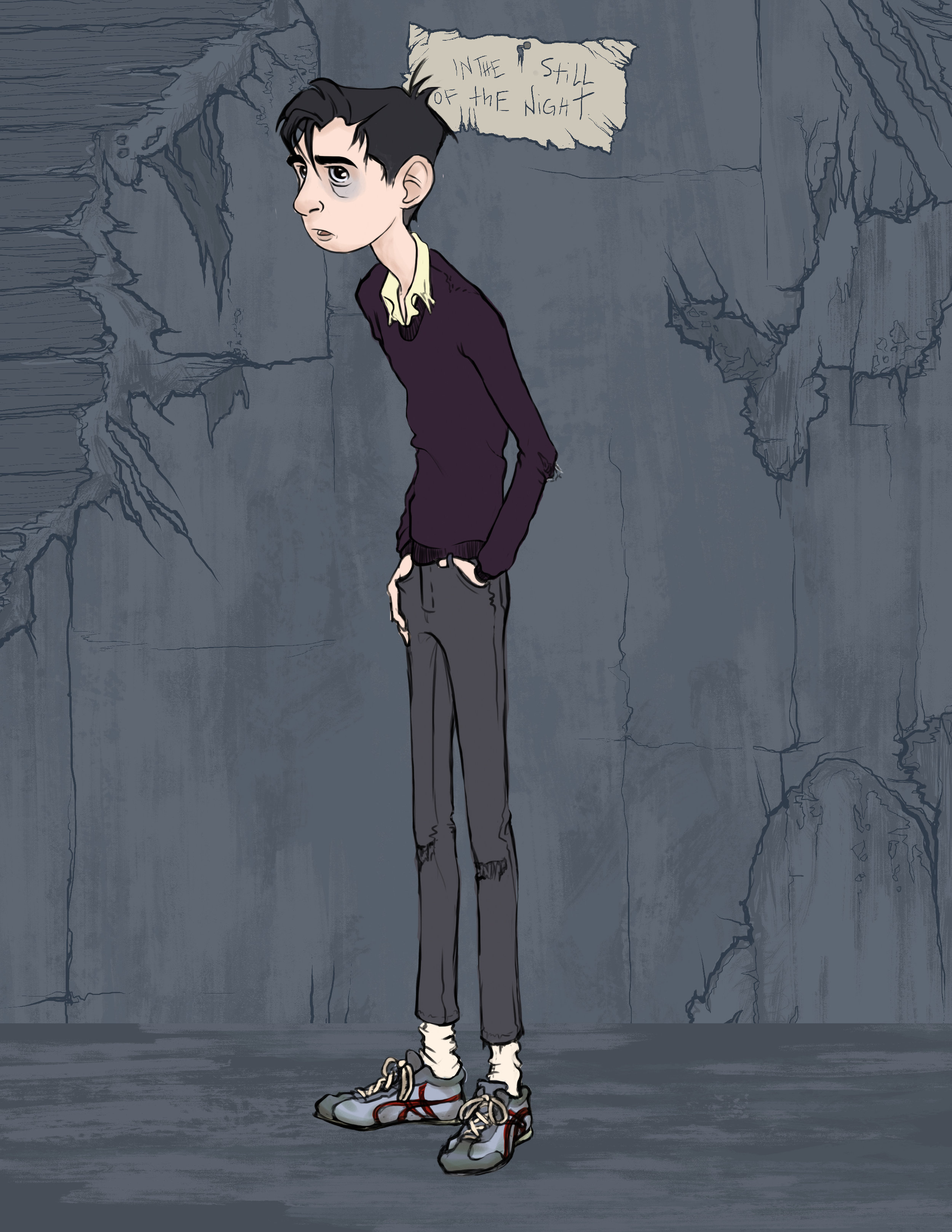 Harry: The troubled young man sinking more and more deeply into his living nightmare.