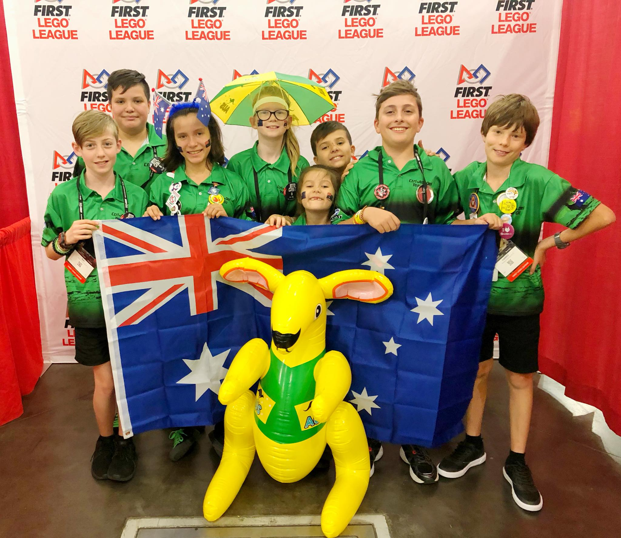 2018 Ctrl+Alt+Del FLL Team representing Australia in Houston, Texas, USA at the FIRST World Championship