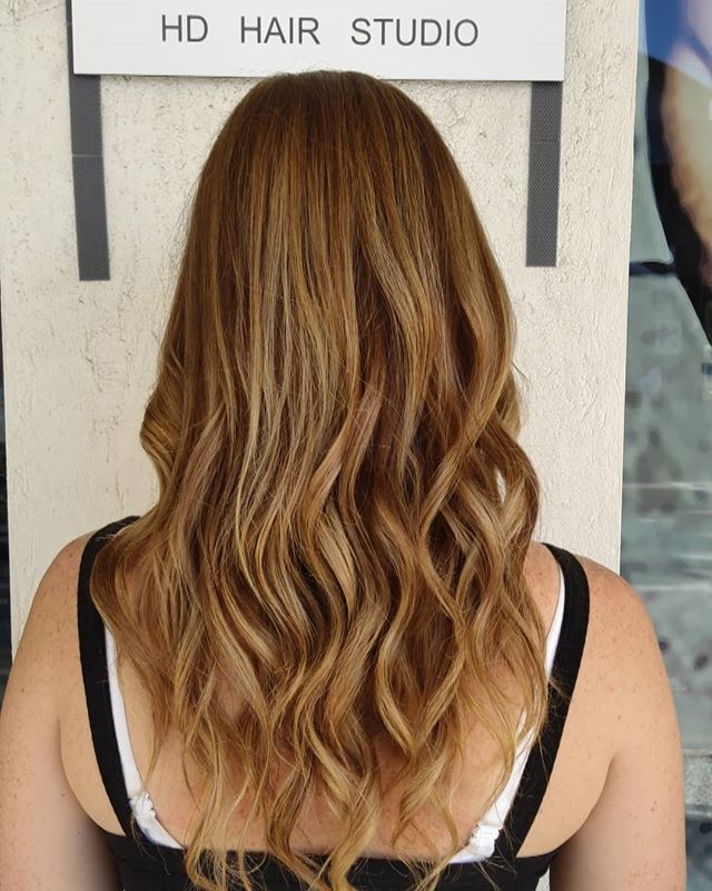 🦔 Caramel balayage makeover on Morgan  Colour and style by Laura