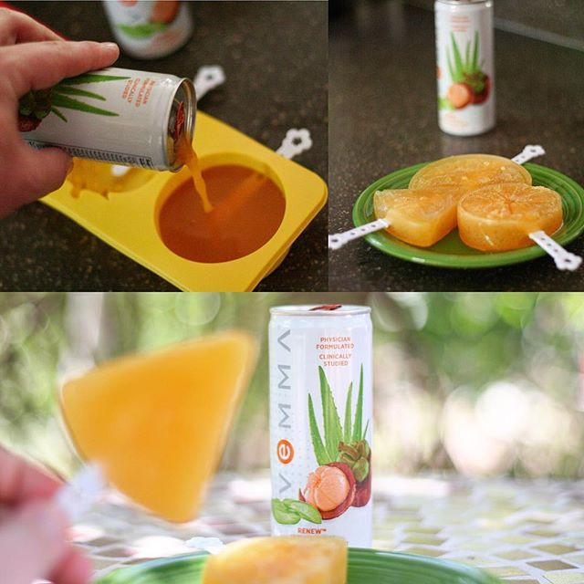 Just in time for summer: Renew Popsicles! Simply take a can of #Renew, pour it into ice pop molds, freeze until solid (about 8 hours or overnight), and enjoy! This is an amazingly delicious summer treat packed with nutrients to support healthy skin, hair, and collagen production. Get that summer glow and Renew in style with Vemma Pops!* . . . . *These statements have not been evaluated by the Food and Drug Administration. This product is not intended to diagnose, treat, cure or prevent any disease.