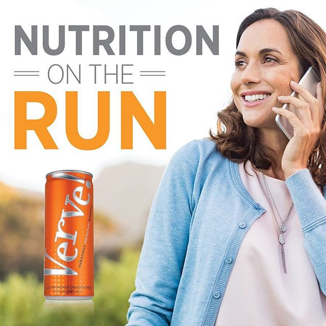 We know how busy life can be and how difficult it can feel to stay energized all day long. Verve not only gives you #healthyenergy on demand, but it also gives you sustained nutrition with its combination of #ultrapremium ingredients. . .  Verve's unique blend of energy-enhancing ingredients is combined with 12 essential vitamins, minerals, and mangosteen to take the idea of #insanelyhealthy to the next level. . . When you need energy and nutrition on the go, #Verve has you covered.