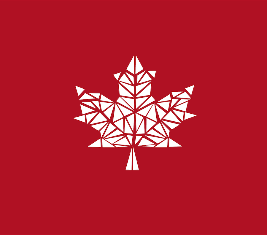 Canadian Dream Summit - Maple Leaf Compressed White on Wine Red HD - Large for Keynote.png