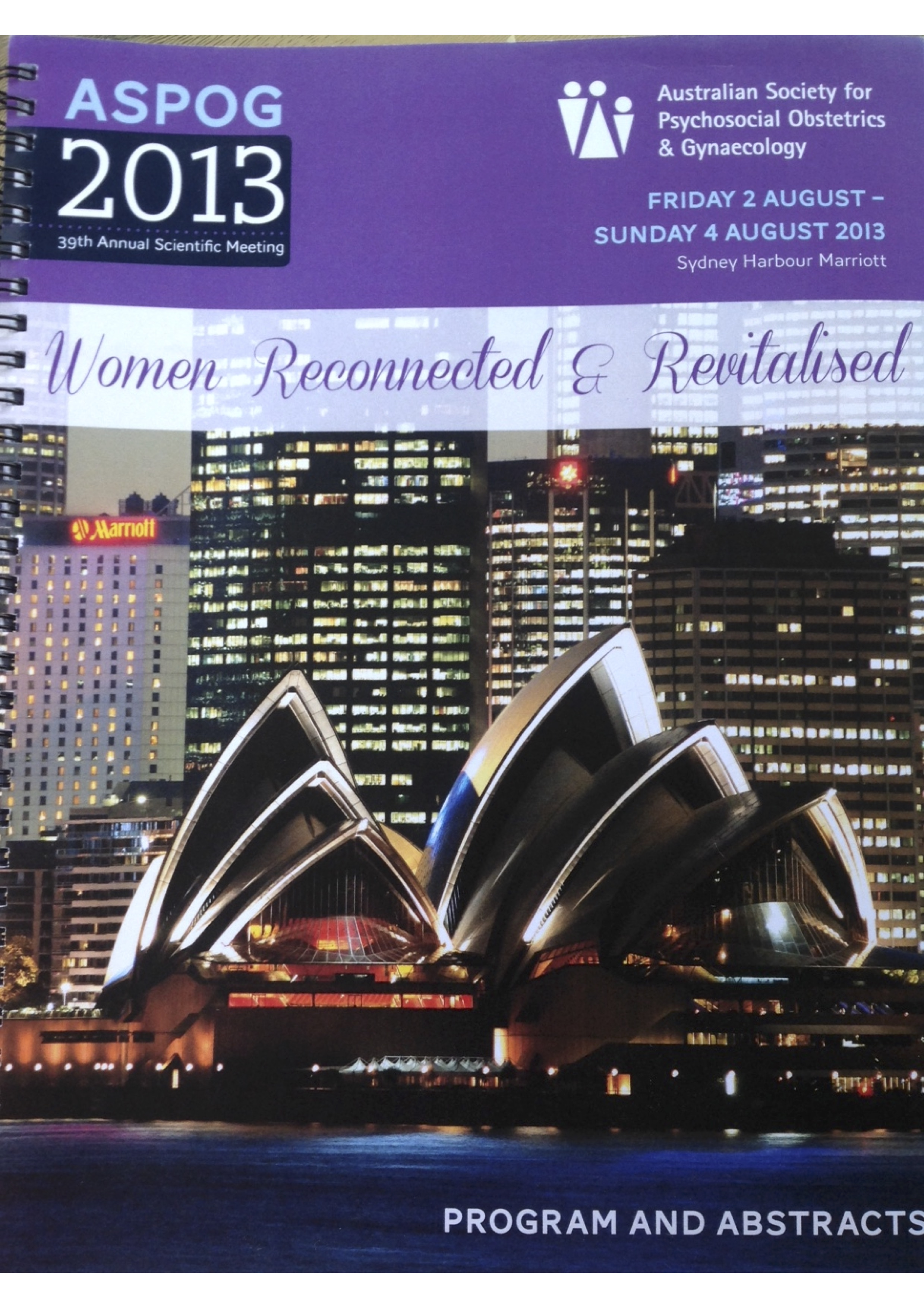 ASPOG 39th Annual Scientific Meeting 2013 - Women Reconnected and Revitalised