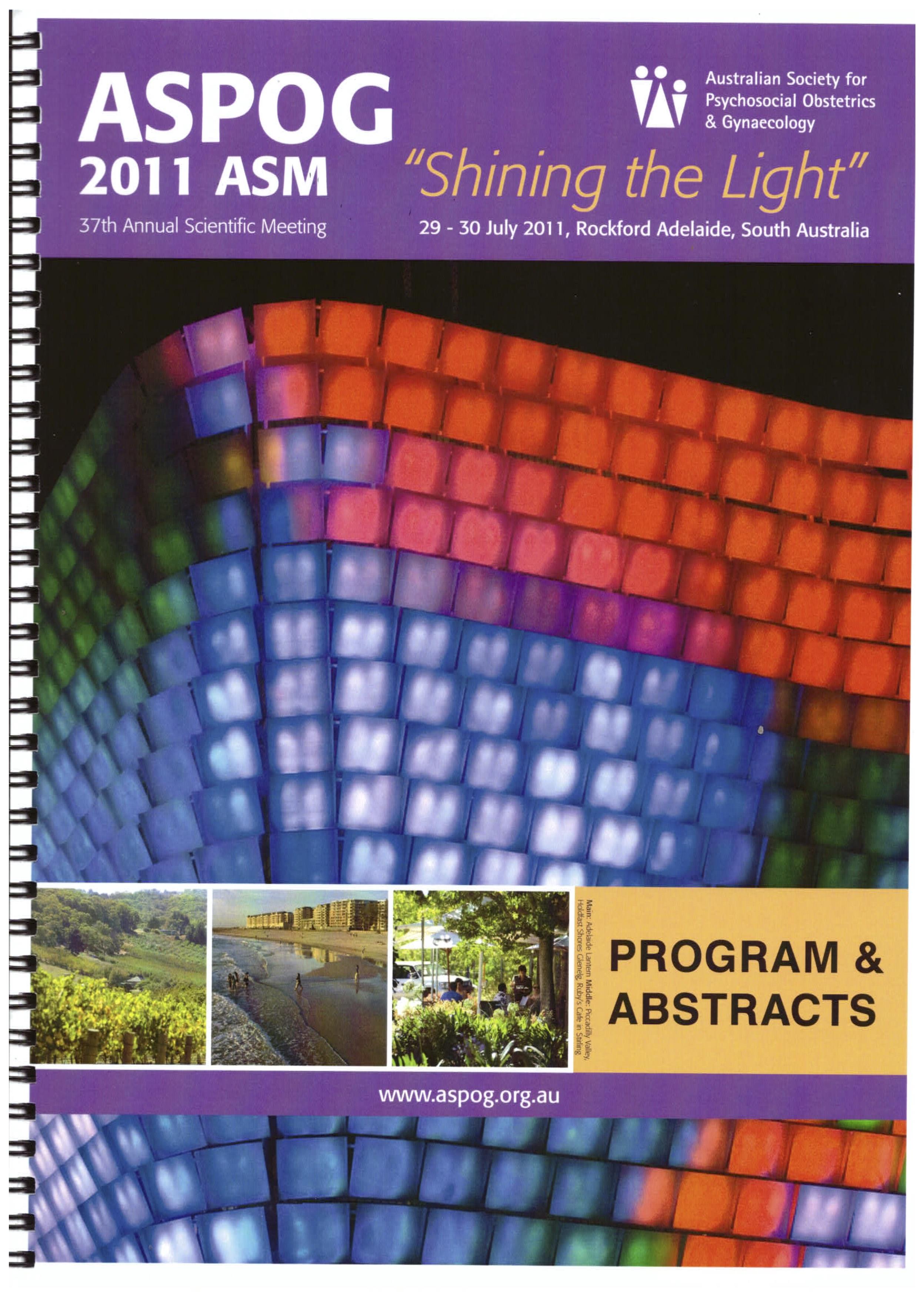 ASPOG 37th Annual Scientific Meeting 2011 - Shining the Light
