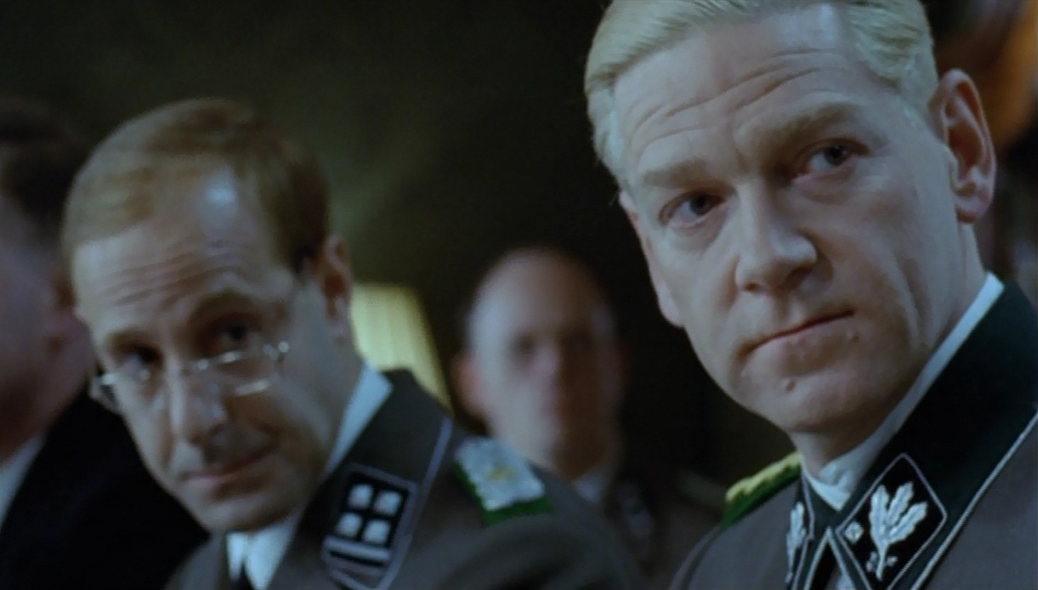 Kenneth Branagh as Reinhard Heydrich and Stanley Tucci as Adolf Eichmann in  Conspiracy