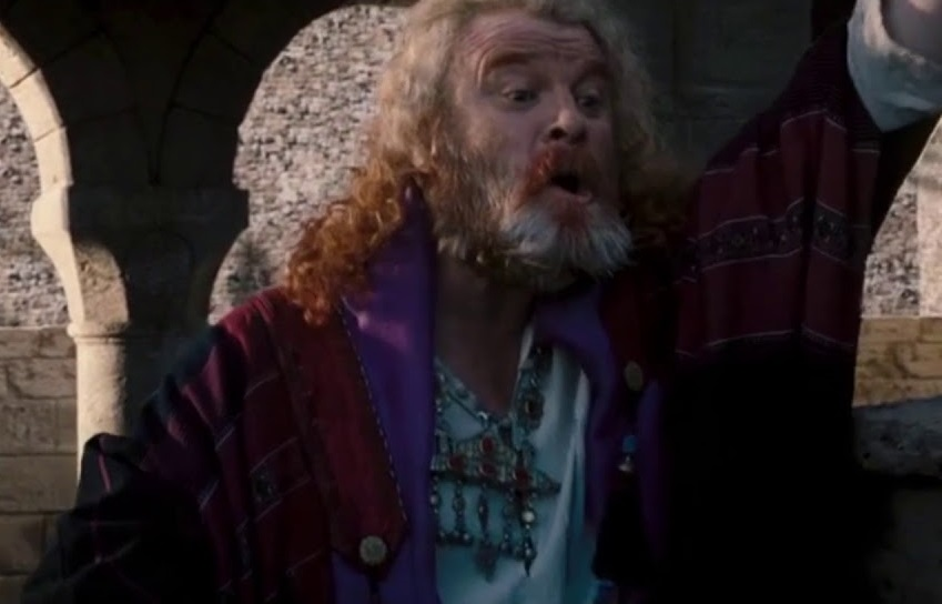 Brendan Gleeson hamming it up as Reynald