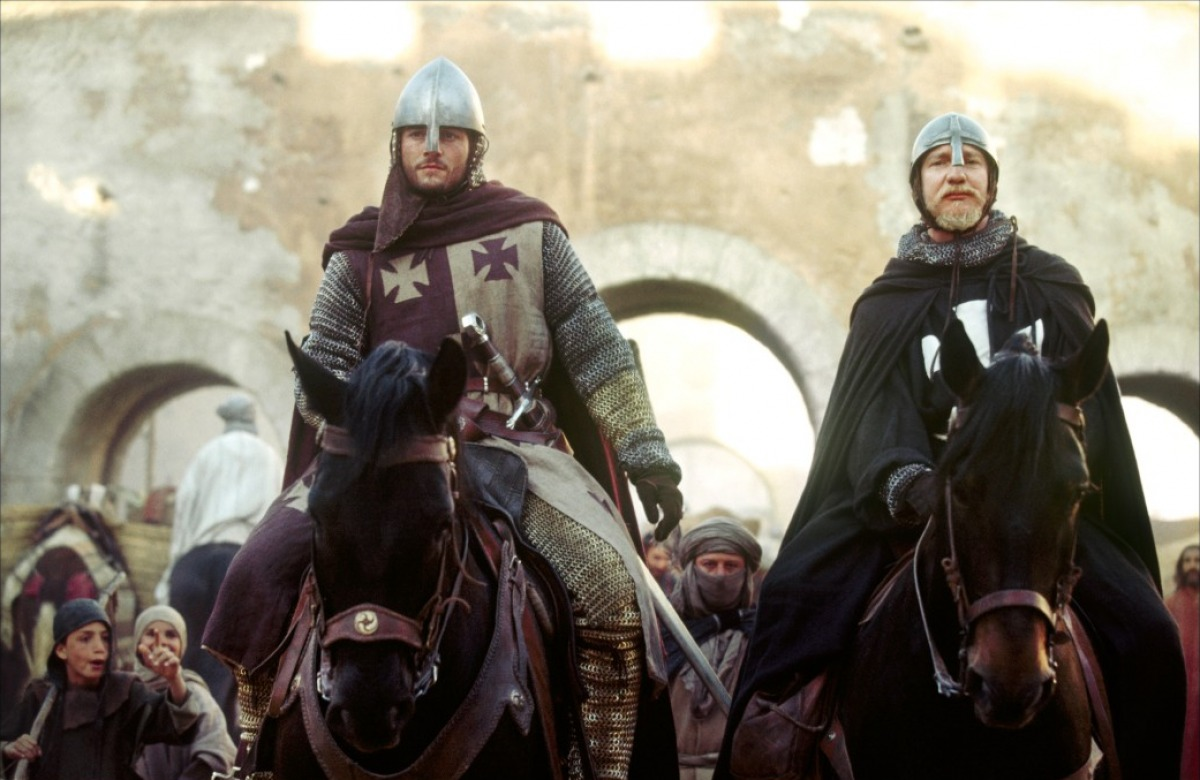 Orlando Bloom and David Thewlis in  Kingdom of Heaven .