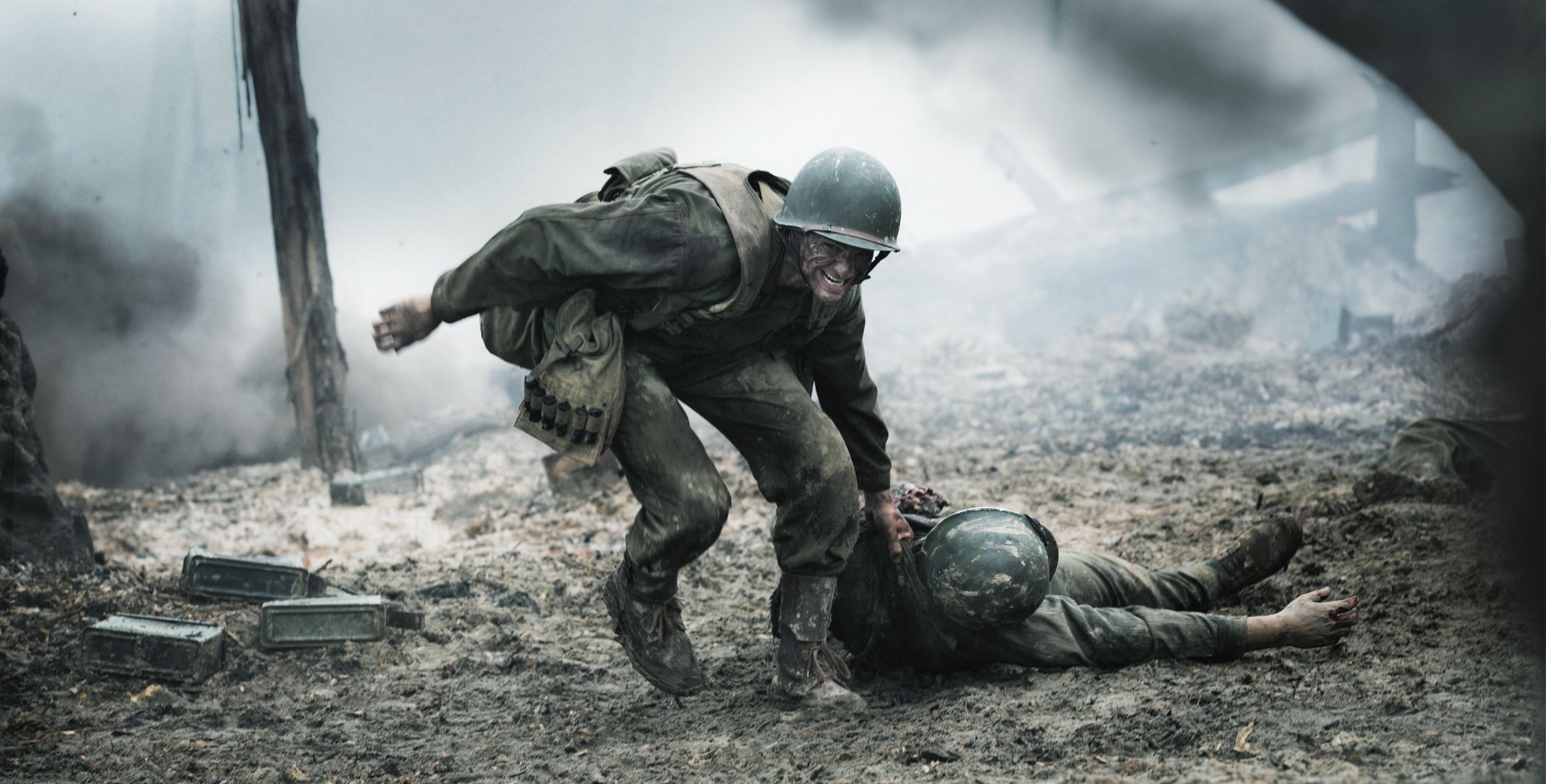 Andrew Garfield as Desmond Doss in  Hacksaw Ridge