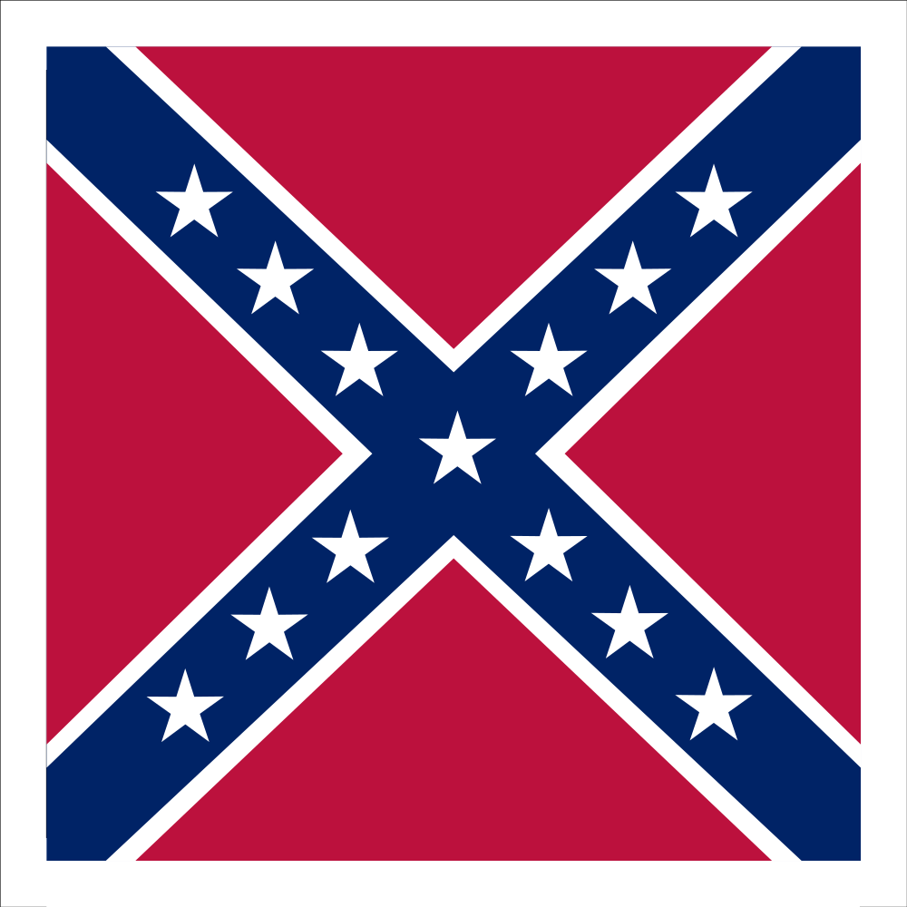 Actual Confederate battle flag, not the ones you see flapping behind pickup trucks.