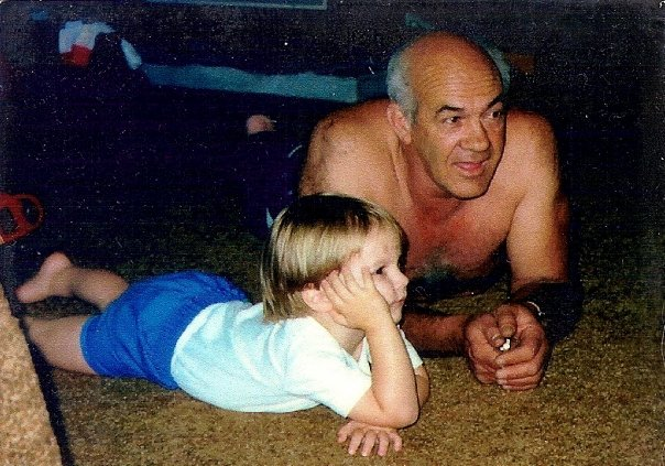 My granddad and I watching TV sometime in the late 1980s