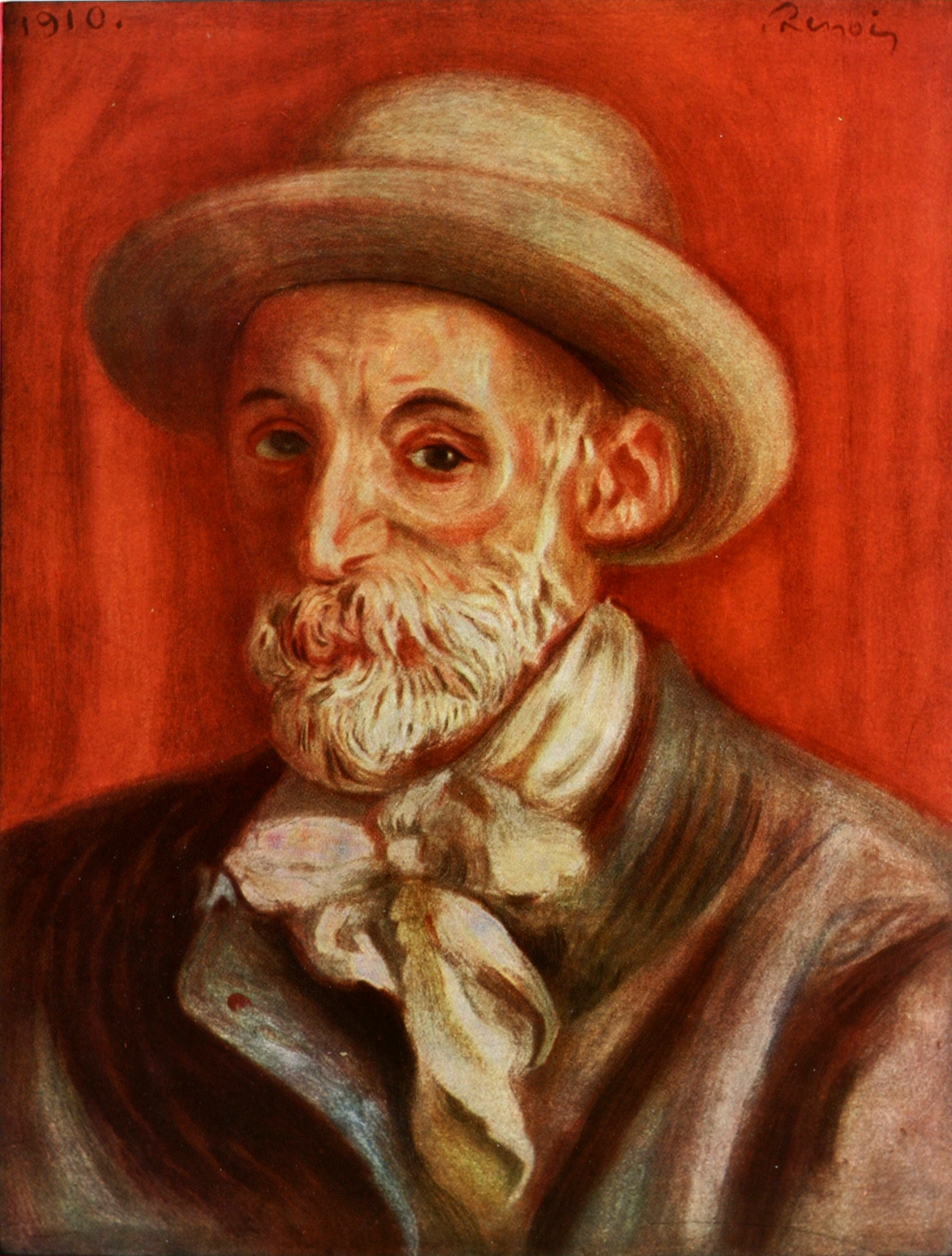 Pierre-Auguste Renoir,  Self Portrait  (1910)