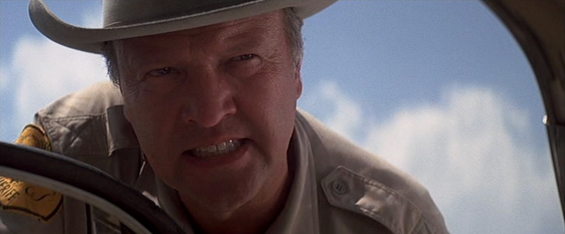 James Dickey as the Sheriff of Aintry in the film adaptation of his novel  Deliverance